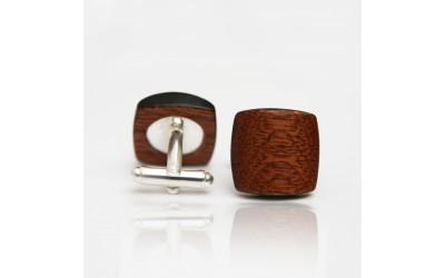 Dřevěné knoflíčky Balance - mahagon