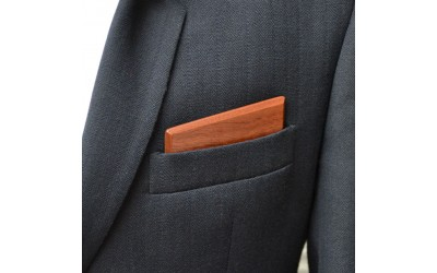 Dřevěný kapesníček Harmony - mahagon