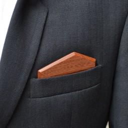Dřevěný kapesníček Elegance - mahagon