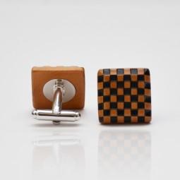 Dřevěné knoflíčky Elegance - hruška šach