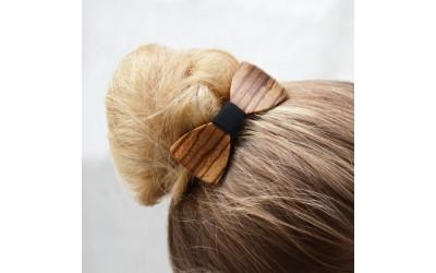 Dřevěný motýlek do vlasů - zebrano
