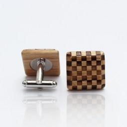 Dřevěné knoflíčky Elegance - jasan šach