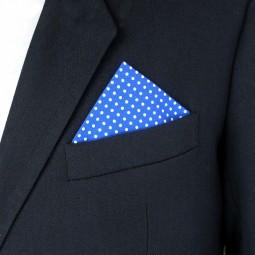 Látkový kapesníček - modrý puntík