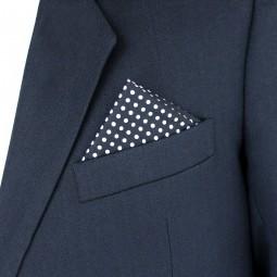 Látkový kapesníček - černý puntík
