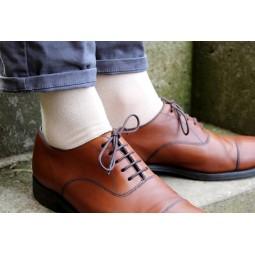 Ponožky s monogramem - béžové