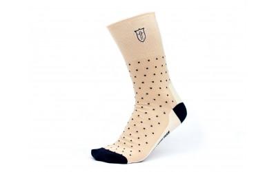Ponožky s monogramem béžové