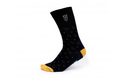 Ponožky s monogramem - béžové s puntíky