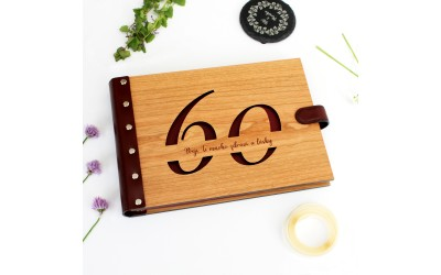 Dřevěné fotoalbum - výročí