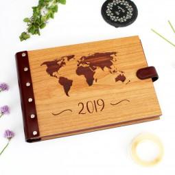 Dřevěné fotoalbum - mapa