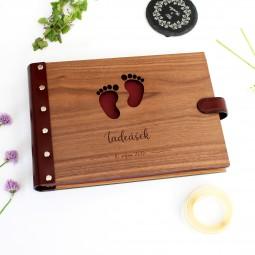 Dřevěné fotoalbum - miminko