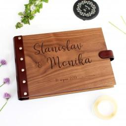 Dřevěné fotoalbum - jména