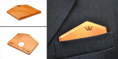 Dřevěné kapesníčky do saka